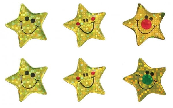 Teacher Stickers- Sparkling Gold Stars (180 pack)