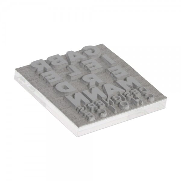 """Textplate for Trodat Printy 4922 13/16"""" x 13/16"""" - 4 lines"""