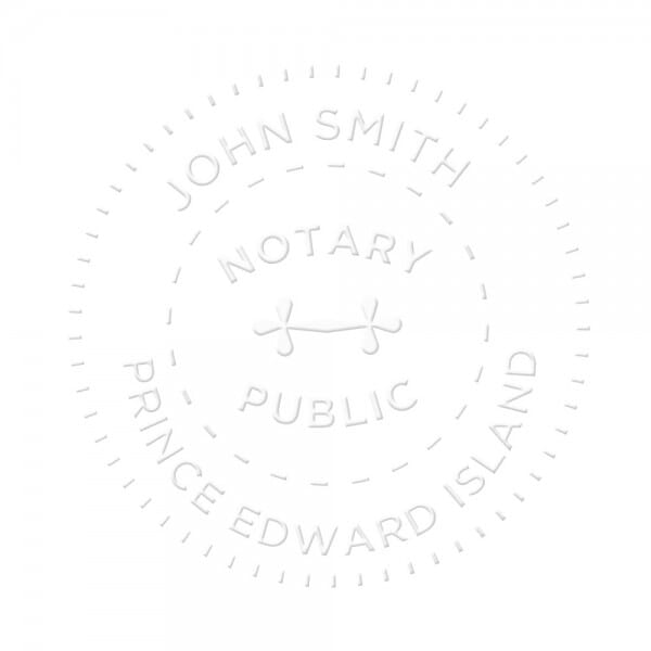 Prince Edward Island Canada Notary seal - 1 5/8'' diameter
