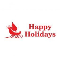 Trodat Printy 4911 - S-Printy - Stock Stamp - Happy Holidays- Sleigh