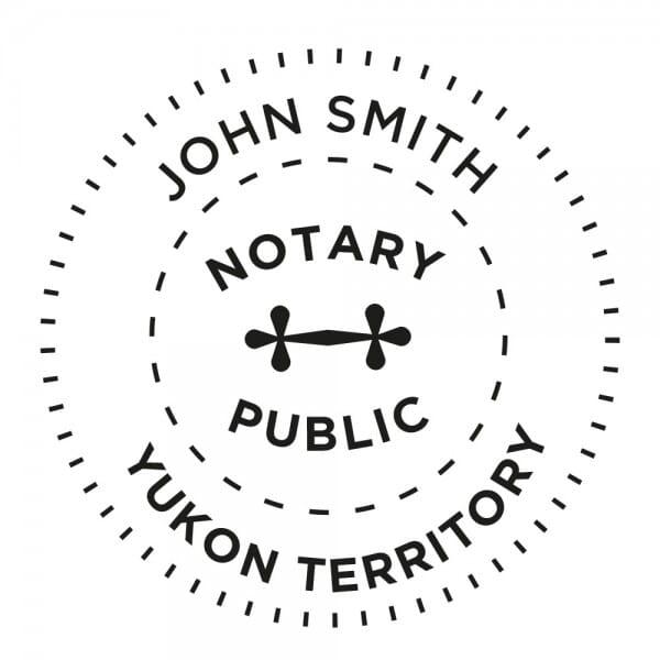 Yukon Territory Canada Notary stamp - 1 5/8'' diameter