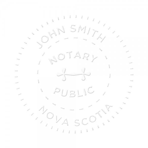 Nova Scotia Canada Notary seal - 1 5/8'' diameter