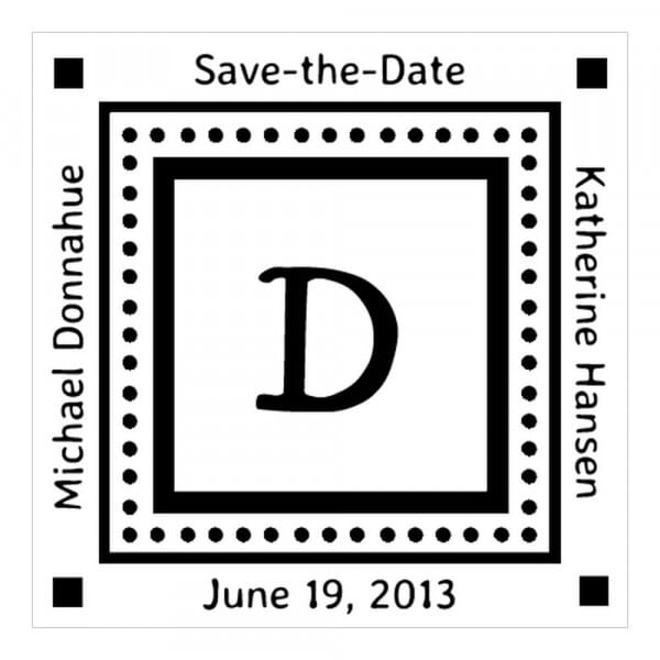 Monogram stamp squared - No  48