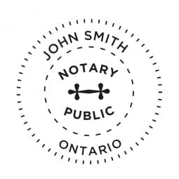 Ontario Canada Tampon de notaire - 1 5/8'' diamètre