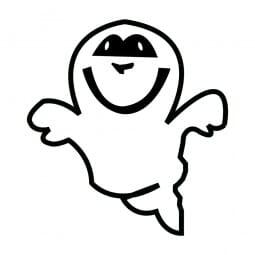 Trodat Printy 4921 - S-Printy - Stock Stamp - Halloween- Ghost