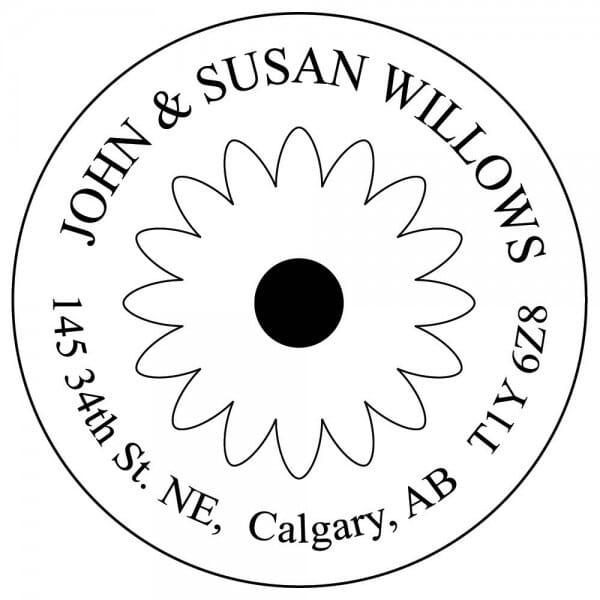 "Slim Stamp 50R 2"" diameter - up to 12 lines"