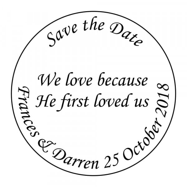 Customisable Save The Date Stamp