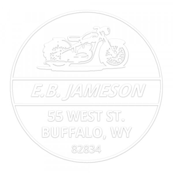 Easy Rider Motorcycle Round Monogram Seal