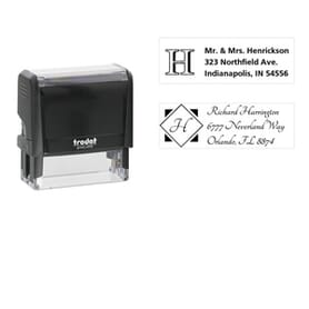 Monogram Stamps rectangular