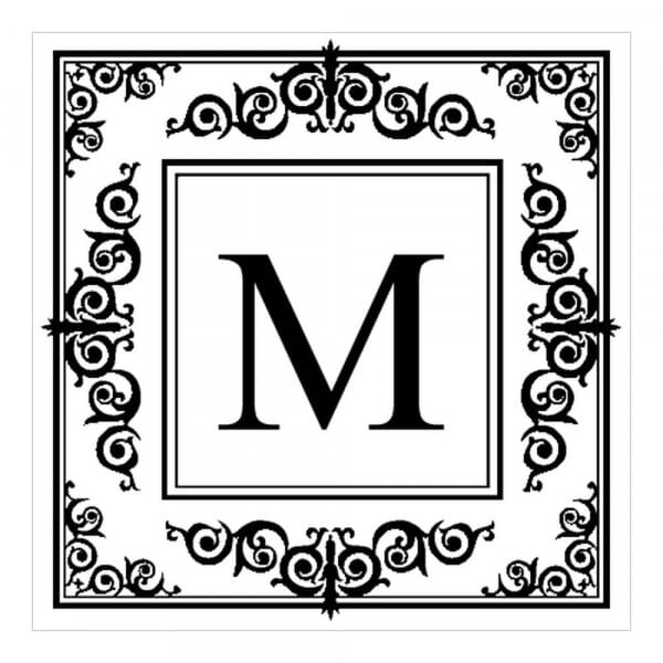 Monogram stamp squared - No  17
