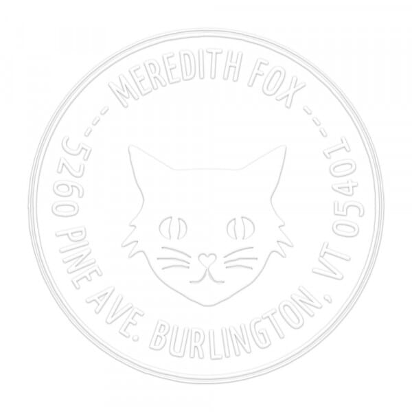 Little Black Cat Round Monogram Seal