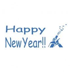 Trodat Printy 4911 - S-Printy - Stock Stamp - Happy New Year- Cork pop