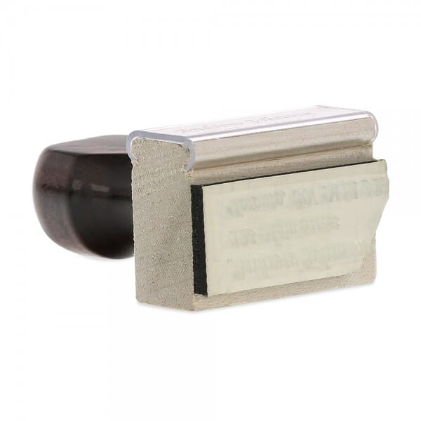 """Rubber Stamp - wood - 3/4"""" X 1-3/4"""" up to four lines"""