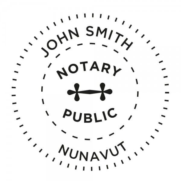 Nunavut Territory Canada Notary stamp - 1 5/8'' diameter