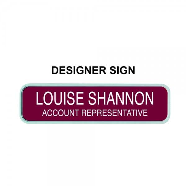 "Custom Engraved Sign- Designer 2"" x 10"""