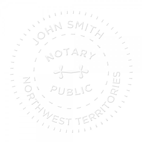 Northwest Territories Canada Notary seal - 1 5/8'' diameter