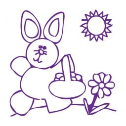 Trodat Printy 4921 - S-Printy - Stock Stamp - Easter- Bunny with basket