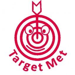 Teachers' Motivation Stamp - Target met (target face)