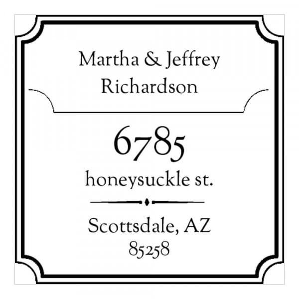 Monogram stamp squared - No  38