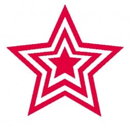 Teachers' Motivation Stamp - Red triple star