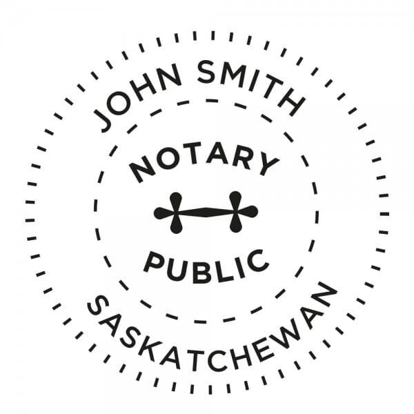 Saskatchewan Canada Notary stamp - 1 5/8'' diameter