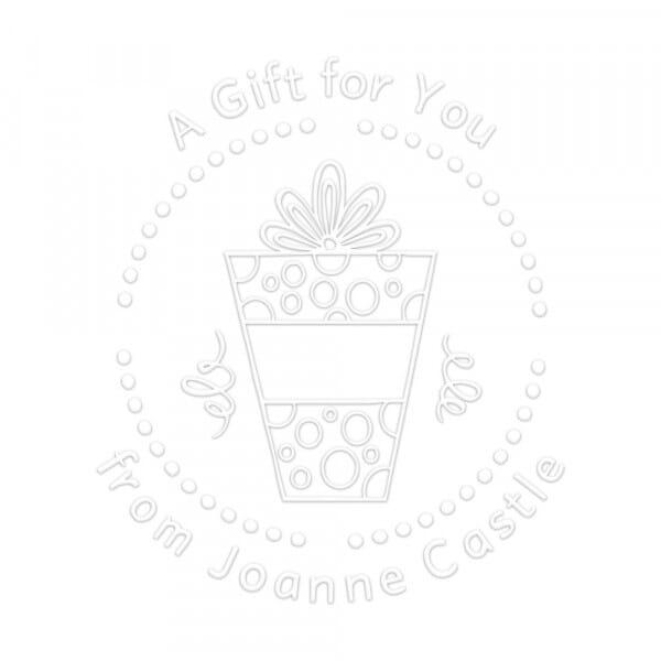 Pince à gaufrer monogramme ronde - Un cadeau pour toi !