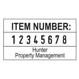 Trodat Professional numéroteur 5558PL - 8 bandes - 2 + 2 lignes