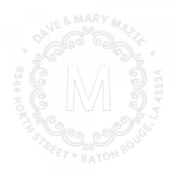 Pince à gaufrer monogramme - Boucles décoratives avec initiales