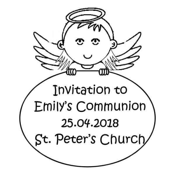 Tampon personnalisé d'invitation de communion