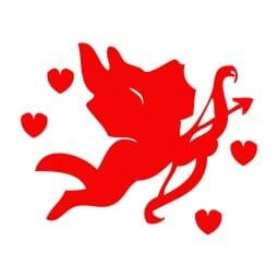 Trodat Printy 4921 - S-Printy - Stock Stamp - Valentine- Cupid