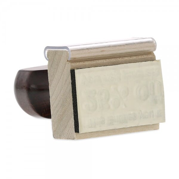 """Rubber Stamp - wood - 1"""" X 1-3/4"""" up to five lines"""