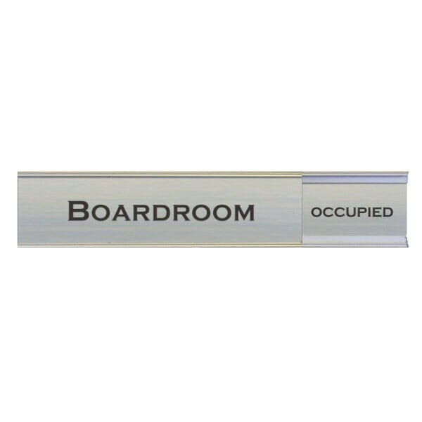 "Slider Boardroom Sign 2"" x 13"""