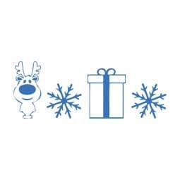 Trodat Printy 4911 - S-Printy - Stock Stamp - Reindeer snowflake gift
