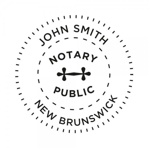 New Brunswick Canada Notary stamp - 1 5/8'' diameter