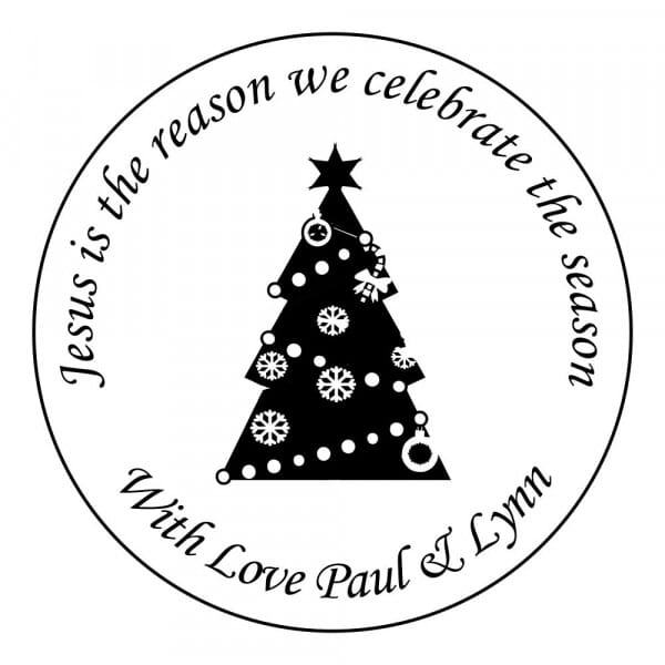 Customisable Christmas Card Stamp