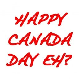 Trodat Printy 4921 - S-Printy - Stock Stamp - Canada Day- Happy Canada Day Eh?