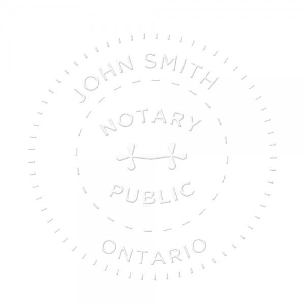 Ontario Canada Notary seal - 1 5/8'' diameter