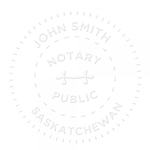 Saskatchewan Canada Sceau de notaire - 1 5/8'' diamètre
