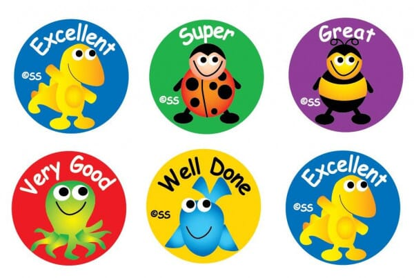 Teacher Stickers- Junior Animals Praise (180 pack)